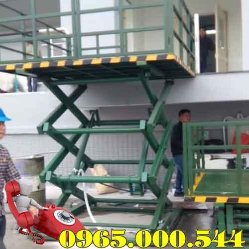 Bàn nâng điện 1 tấn 4m