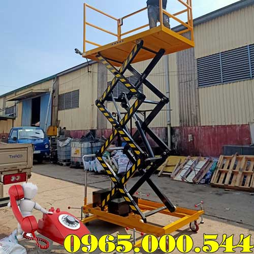 bàn nâng điện thủy lực 500kg nâng cao 3m