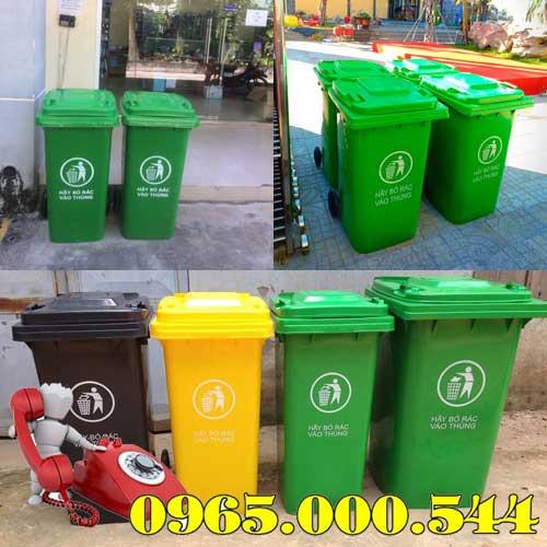 Bán thùng rác 120l 240l 660l giá rẻ nhất tại Dĩ An Tân Uyên