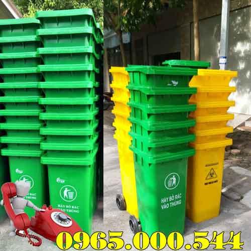 Thùng rác nhựa 240 lít nắp kín