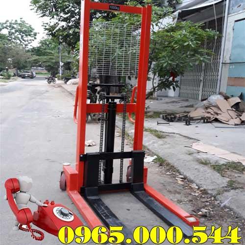 Xe nâng tay cao 1 tấn không phanh