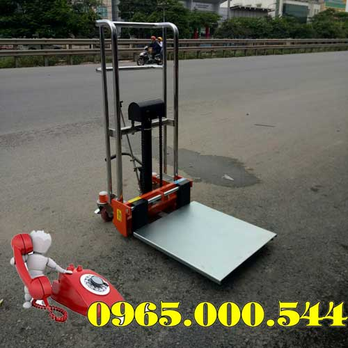 Xe nâng tay cao mini 400kg cao 1.1m