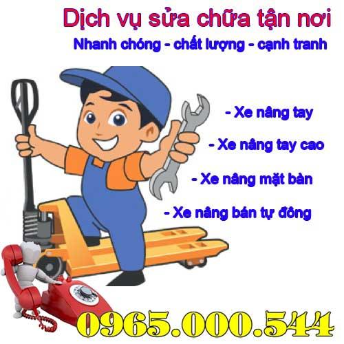 sửa xe nâng tay tại Bắc Ninh